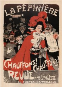 Vinatge French advertisement poster - le pepiniere Theatre Poster 1898